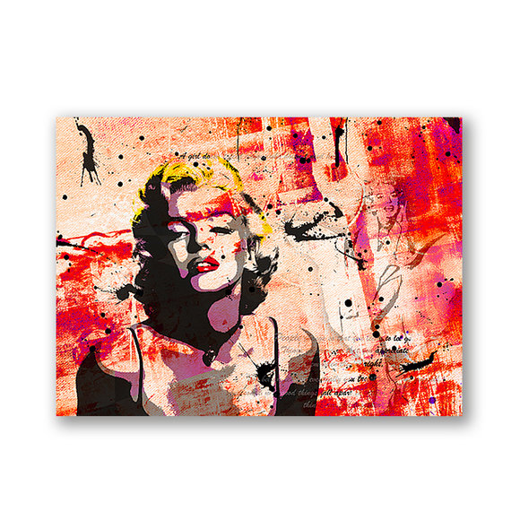 Marilyn Monroe Red Tavla