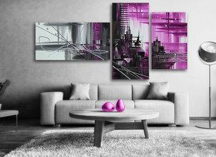 Oljemålning Purple city