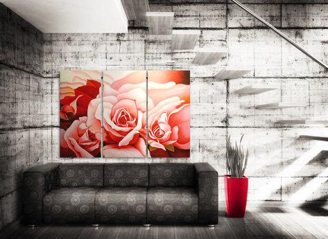 Blommor - Oljemålning - Roseis