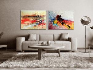 Abstrakt Oljemålning Toowoomba