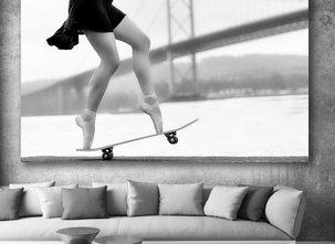 Ljuddämpande Tavla - Skater