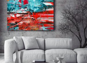 Abstrakt oljemålning - Anrik