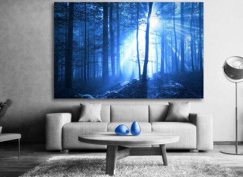 Blå Skog Tavla