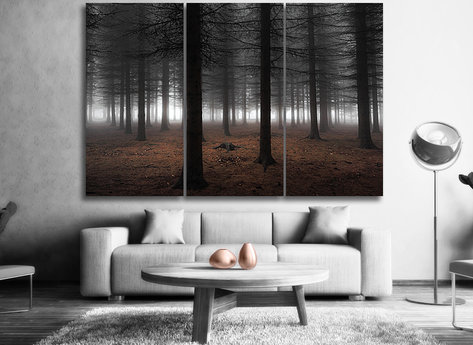 Skog Tavlor i delar