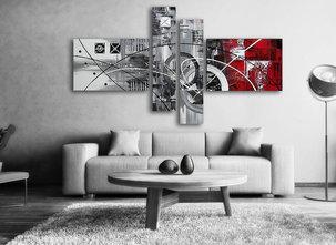 Abstrakt Oljemålning La Red