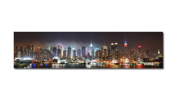 New York at night - Panorama Tavla