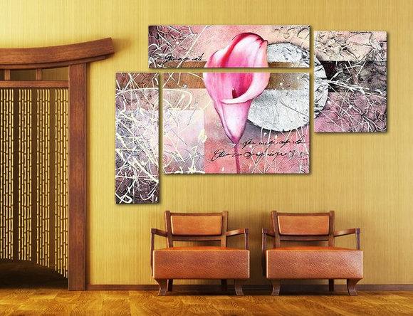 Blommor - Oljemålning - Rosa Kalla